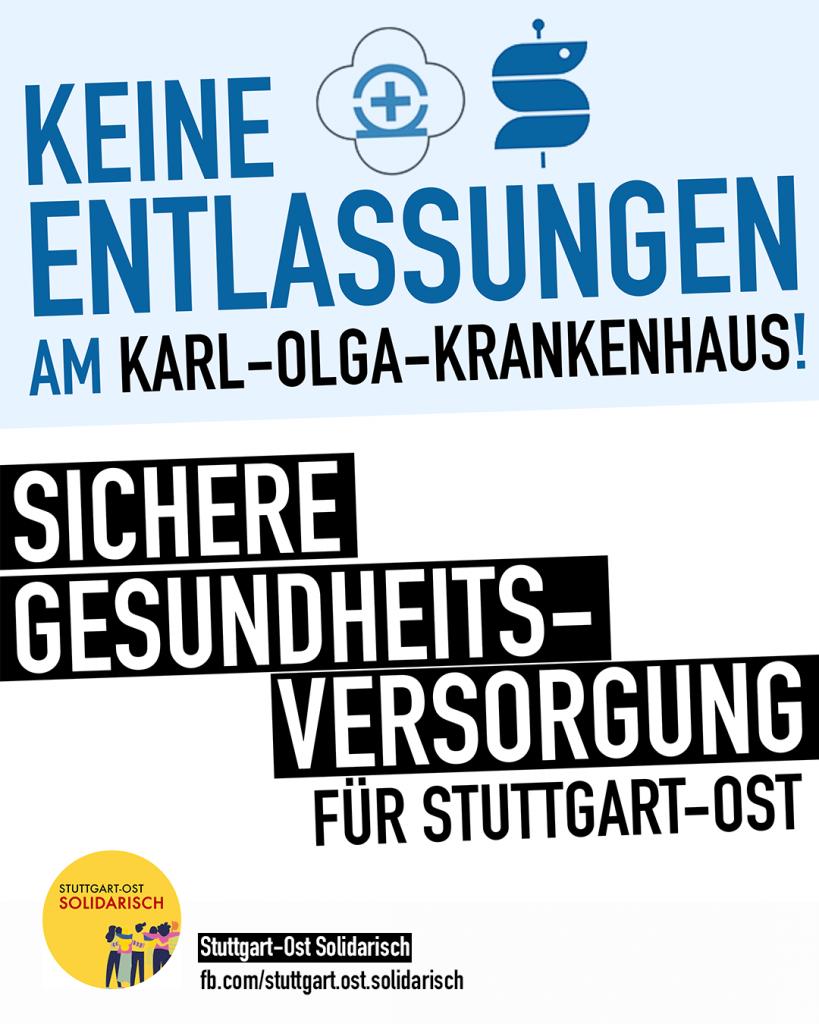 Sichere Gesundheitsversorgung für Stuttgart-Ost – Keine Entlassungen im Karl-Olga-Krankenhaus